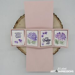 Hydrangea Twist & Pop Card