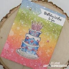 Wedding Cake Shaker Card