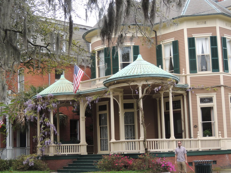 Historic homes near Forcyth Park, Savannah