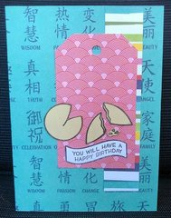 Fortune cookie Bday card