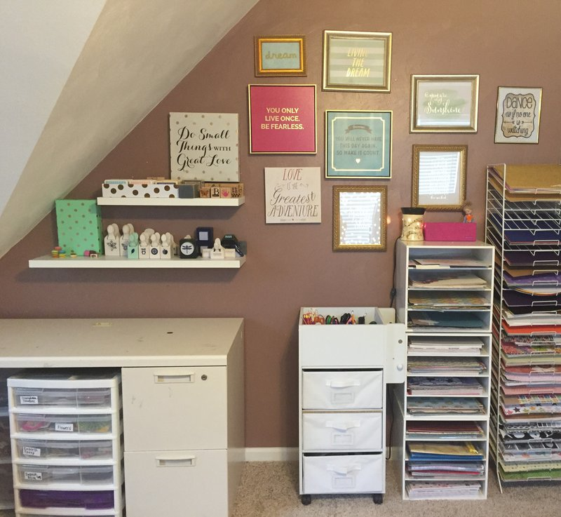 Collage Wall and Paper Storage!