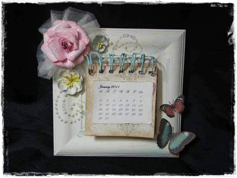 Shabby Chic Mini Calendar ~For Sale on my Etsy!