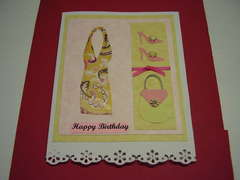 happy birthday dress card