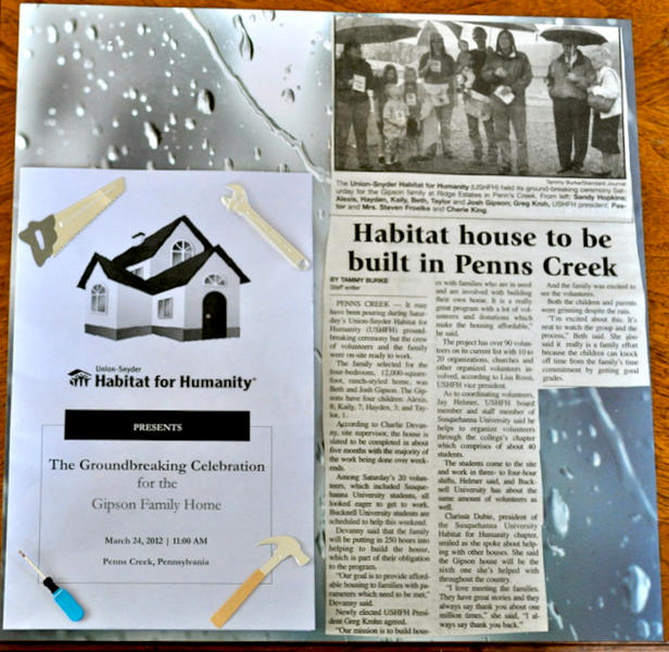 Habitat for Humanity's Scrapbook-2012