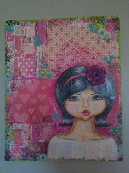 She-girl Large canvas
