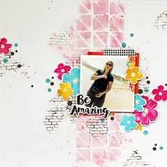 Be Amazing scrapbook page