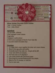Recipe Card for Christmas 2008 Cookie Exchange
