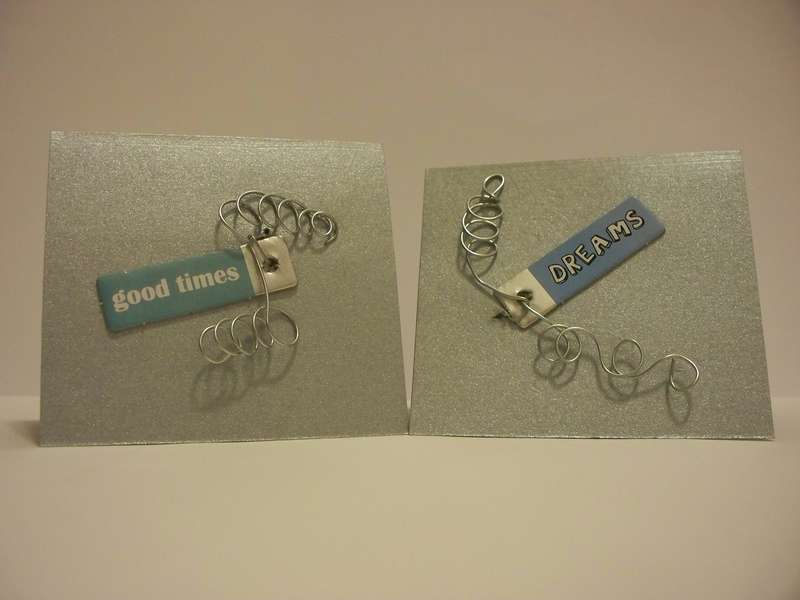 Curled Wire Mini Notecards