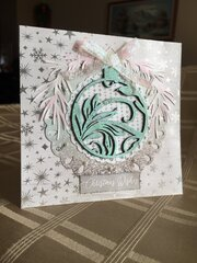 Turquoise ornament card