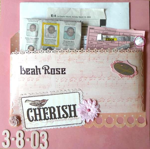 Leah's Baby Memorabilia