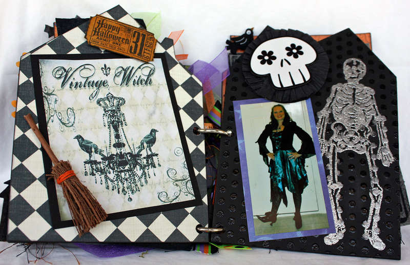 Halloween Chipboard Book