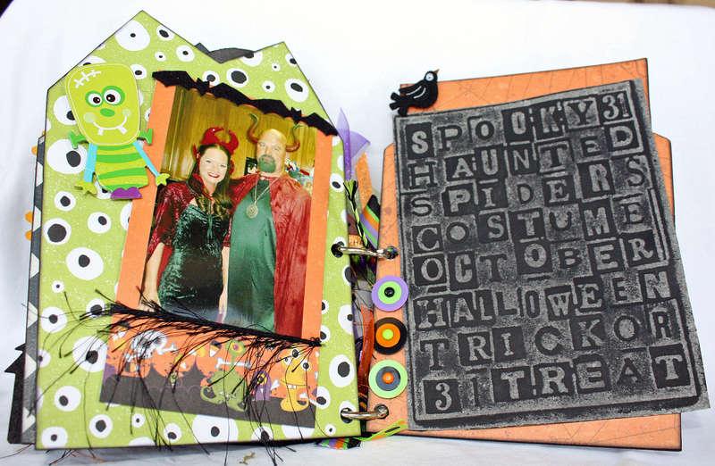 Halloween Chipboard Book