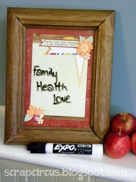 thankful-dry erase frame *Elle's Studio*