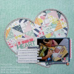 A Work of Heart *MyCreativeScrapbookkitclub*
