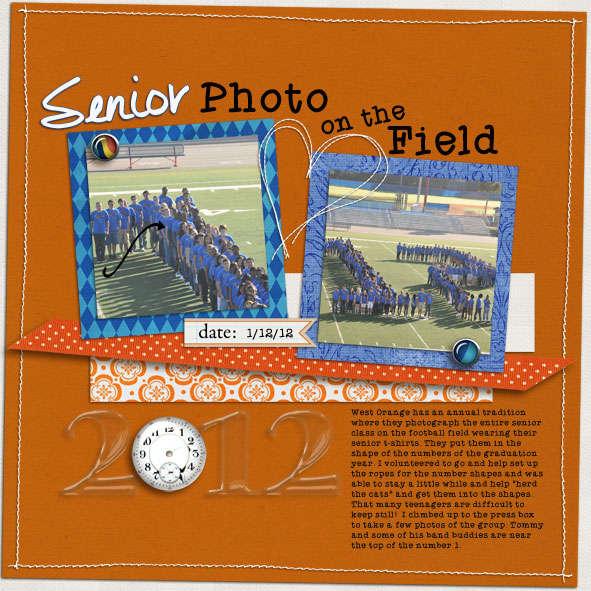 Senior Photo on the Field