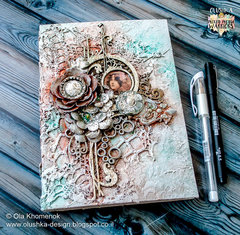 Vintage style notebook