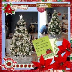 OUR 2016 WHITE POINSETTIAS THEMED CHRISTMAS TREE (Poinsettia Day)