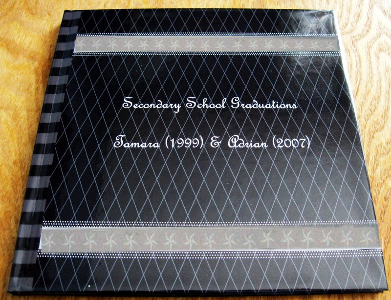 8×8 PHOTOBOOK – MY KIDS SECONDARY SCHOOL GRADUATIONS (1999 & 2007) - COVER