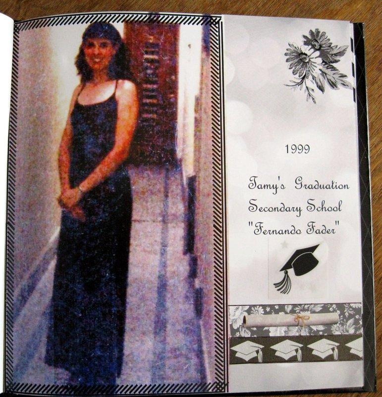 8×8 PHOTOBOOK – MY KIDS SECONDARY SCHOOL GRADUATIONS (1999 & 2007) - PAGE 1