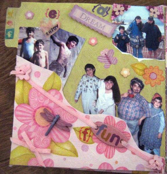 MINI ALBUM A-Z - 4x4 - PAGE D,E,F