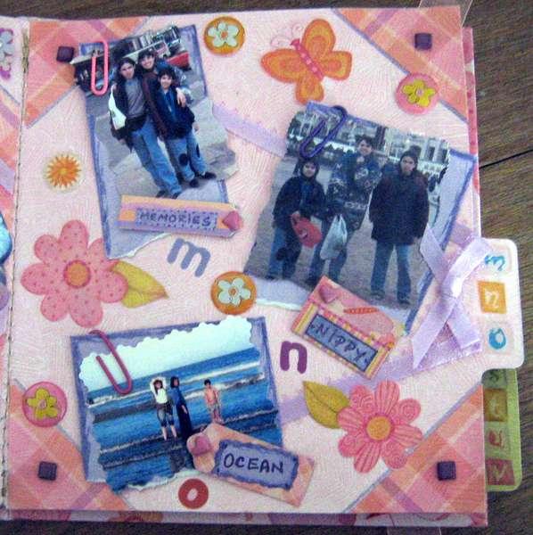 MINI ALBUM A-Z - 4x4 - PAGE M, N, O