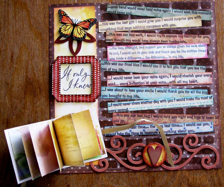 ANOTHER TRIBUTE TO MY GUARDIAN ANGEL - MINI BOOK OPENED