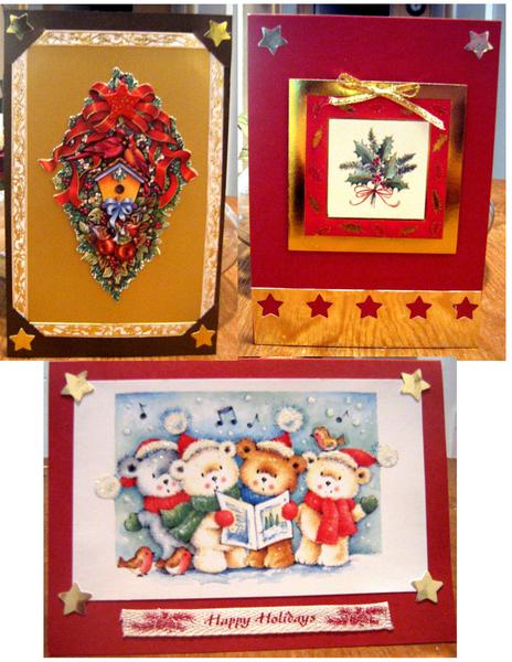 RECYCLING OLD X-MAS CARDS AND TAGS 2