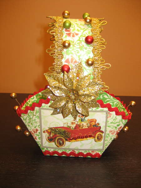 Christmas basket for the Holiday basket swap- Front