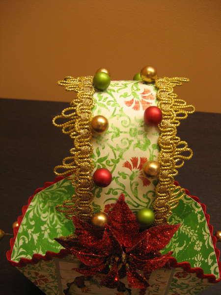 Christmas basket for the Holiday basket swap- handle