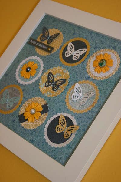 Hello Sunshine - 3D Butterfly Frame