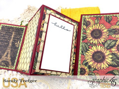 Graphic 45 French Country Quad Fold Card