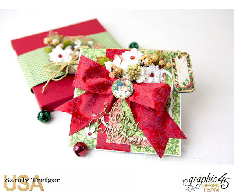 Graphic 45 Christmas Card and Box Envelope