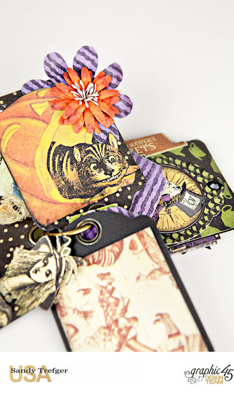 Graphic 45 Curiouser and Curiouser Trinket Box with Tag Album & Junk Journal