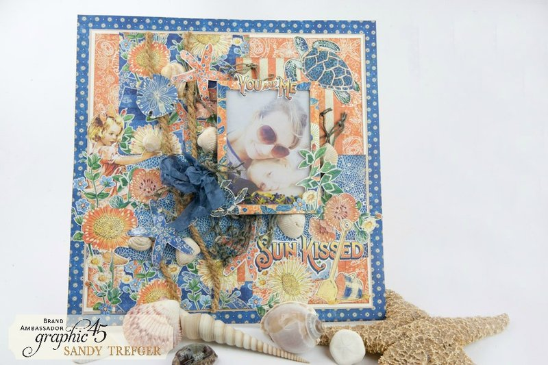 Graphic 45 Sun Kissed 12x12 Layout