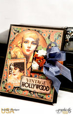 Graphic 45 Vintage Hollywood Passport Mini Album
