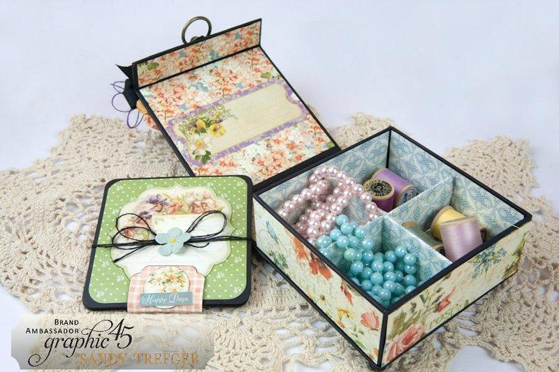 Graphic 45 Secret Garden Sewing Box with Mini Album
