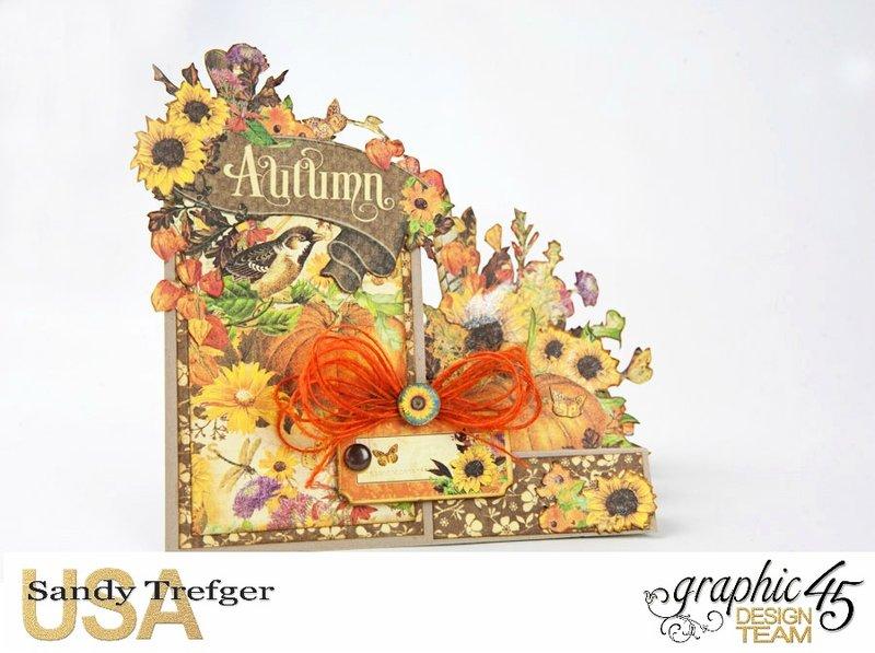 "Graphic 45 Seasons ""Autumn"" Side Step Card"