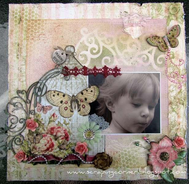Imagine **Pink Paislee - Butterfly Garden**