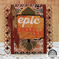 Paper House Productions Southwest Epic Birthday Card w Free Cut File
