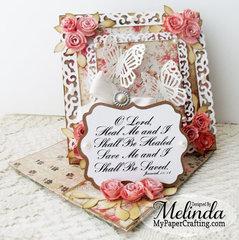 Elegant Rose Cornered Easel Card