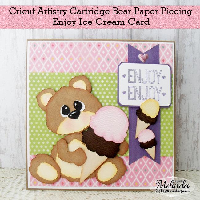 Cricut Artistry Bear Paper Piecing Card