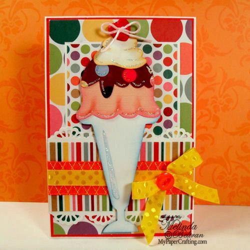 Ice Cream Sundae Cricut Card