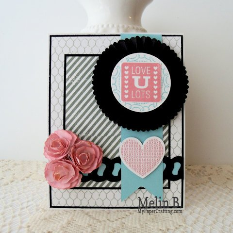 Love You Lots Cricut and Stamps Card