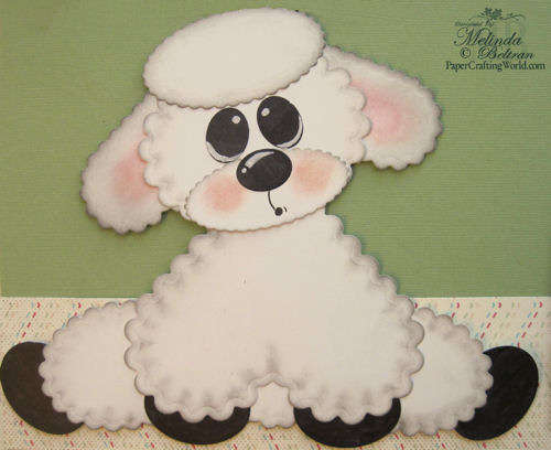 Spellbinders Lamb Piecing