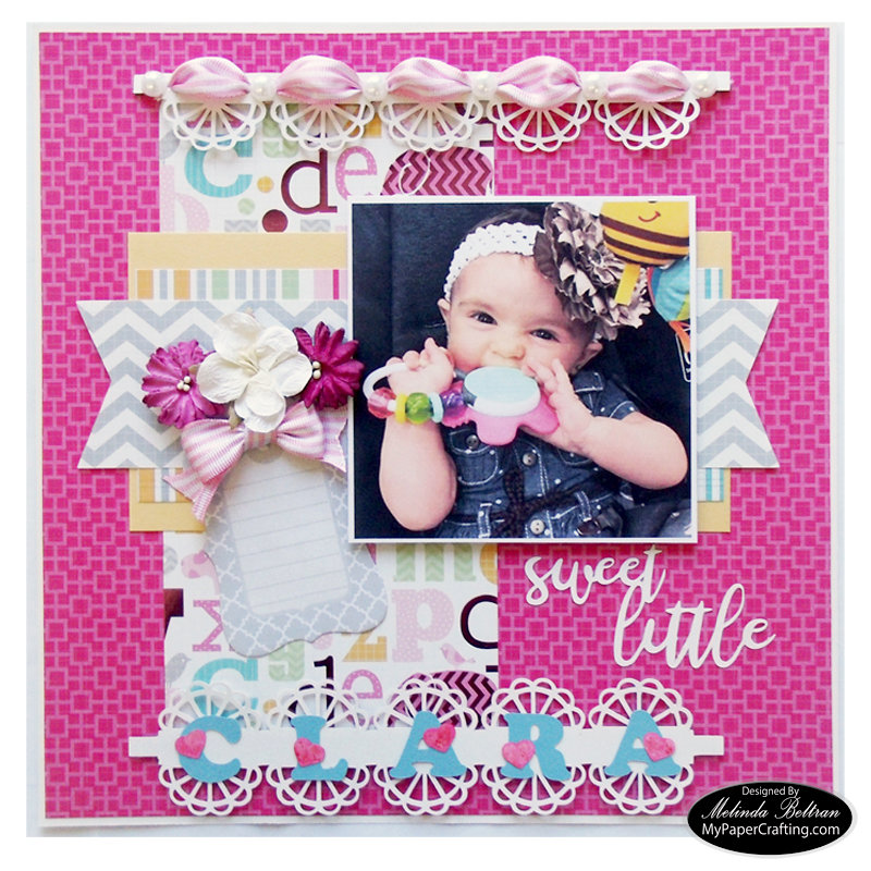 SVG Cut File Baby Girl DCWV Stackaholic Challenge Layout