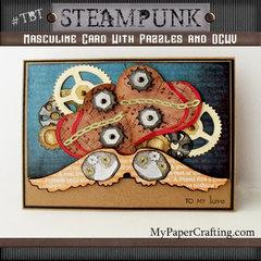 Steampunk Valentine's Day Card