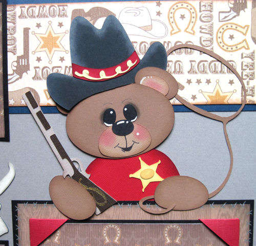 Close up of Yee-Haw Bear