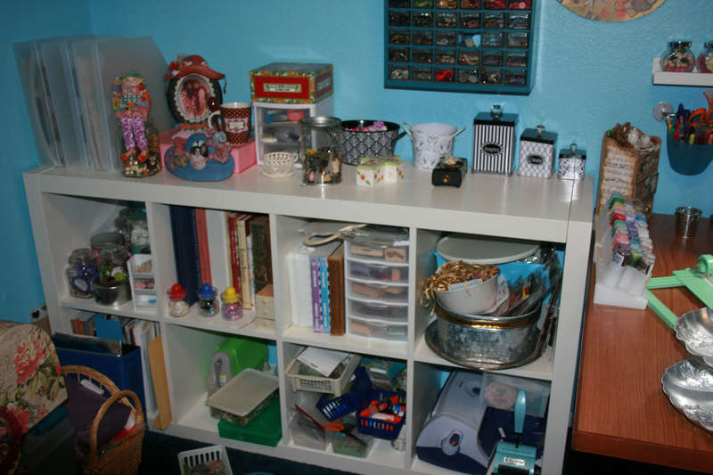 ikea shelves still needs some organizing