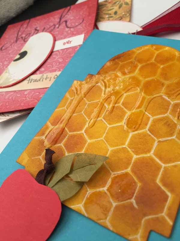 Honeycomb Background  for Rosh Hashanah Cards
