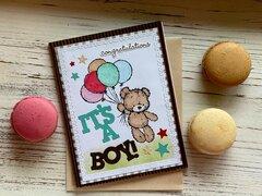 Anouncement Card. It's a Boy.
